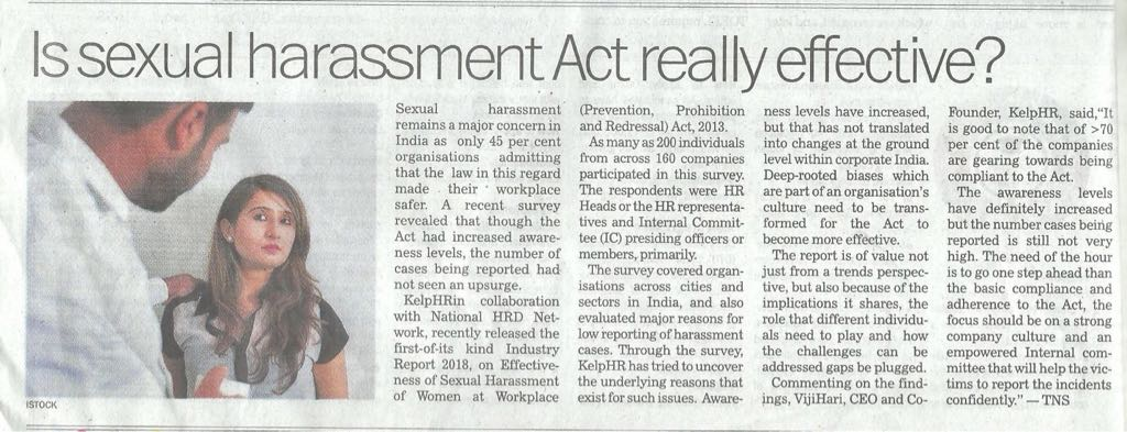 Is Sexual Harassment Act really effective?